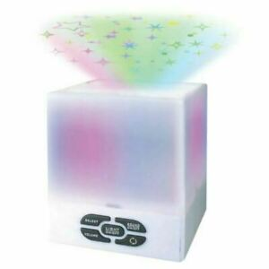 Kids Baby Star Projector Cube Night Light With Soothing Lullabies Music