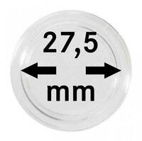 Lindner 2251275 Münzkapseln 27,5 mm, 100er-Packung, z.B. für die deutsche 5 Euro
