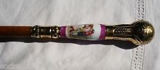 Antique handle Umbrella dancing the jota porcelain and bronze
