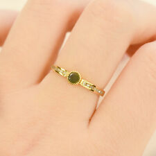 Opal and Diamonds Stackable Ring in 10K Yellow Gold
