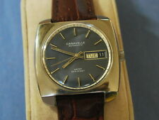 Nice Vintage 1969 Bulova CARAVELLE S.S. 17J Automatic Men's Watch w/Date & Day