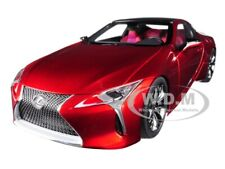 LEXUS LC500 METALLIC RED W/DARK ROSE INTERIOR 1/18 MODEL CAR BY AUTOART 78873