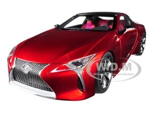 LEXUS LC500 METALLIC RED W/DARK ROSE INTERIOR 1/18 MODEL CAR BY AUTOART 78873