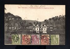 5767-INDOCHINA-POSTCARD DAP CAU to KOUANG TECHEOU (china) 1909 INDOCHINE