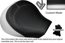 WHITE & BLACK CUSTOM FITS SUZUKI INTRUDER VL 1500 98-04 FRONT SEAT COVER