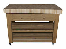 Butchers Block (bloc) Island (trolly) beech with optional castors