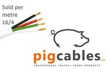 16/4 Speaker cable 16AWG 4 Core White 1m Professional Install Grade OFC, LSOH