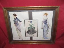 Superbe aquarelles etudes de costumes époque  art déco 1930