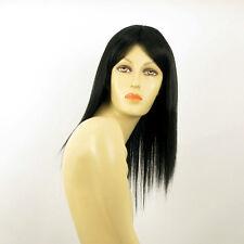 Perruque femme mi longue noir LAURY 1B