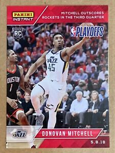 2017-18 Rookie Donovan Mitchell #159. Panini Instant SP only 105 Made. Utah Jazz