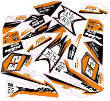KTM Decals Graphics Custom Sticker Kit compatible with KTM 525 450 XC Quad 08-13