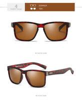Dubery Polarized Sunglasses Men Running Fishing Vintage Driving Glasses Brown