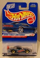 Hot Wheels 1999 First Editions Olds Aurora GTS-1 Silver w/Gold Lace BBS #5/26