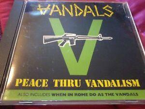 THE VANDALS Peace Through Vandalism/When In Rome 1989 CD Album, Punk POST FREE
