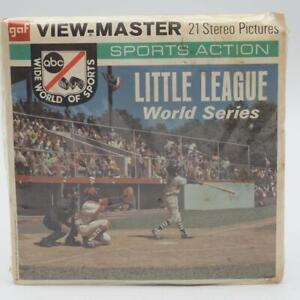 Vtg Little League World Series Baseball Viewmaster Reels Packet B940 Sealed