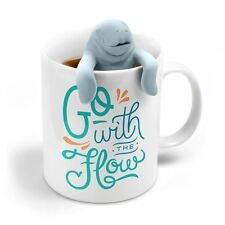 Two For Tea Manatea Tea Infuser & Mug Coffee Gift Set By Fred & Friends NIB