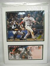 """Boston Red Sox Johnny Damon USPS Matted 16"""" x 12"""" Picture Postmark 10/20/04 ALCS"""