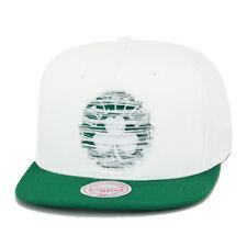 Mitchell & Ness New Boston Celtics Snapback Hat White/Green/Distressed Logo