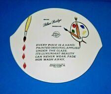 Vintage Blue Ridge Southern Pottery Advertising Dealer Plate Platter