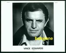 VINCE EDWARDS VINTAGE 8x10 PHOTO HEAD SHOT AND RESUME 1994