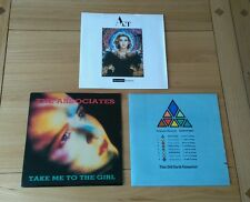 "Electro Pop Rock 1980s Job Lot 3x UK 7"" Singles Act The Associates Sudden Sway"