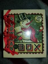 NIB: Mini Snowman in a Box Craft Kit & Book - Running Press