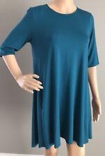 Eileen Fisher Nile Lightweight Jersey Roundneck Tunic Dress Size XS