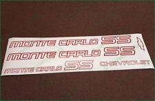 CHEVROLET Monte Carlo SS 1985-1986 Logo Premium Restoration Decals Stickers Set