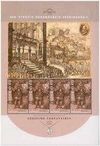 SLOVAKIA / 2018, (Full Sheet) Bratislava Coronation Ceremonies, MNH