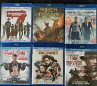 Bluray Lot of 6 Movies: The Magnificent 7 Wrath Titans Sicaro Hansel & Gretel A3