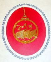 Colonial Williamsburg 400th Anniversary 24 KT Gold-Finish Ornament 2007 (ACS)