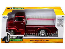 JADA 97463 1952 52 CHEVROLET COE FLATBED 1/24 DIECAST RED with CHROME WHEELS