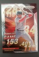 2020 Panini Prizm JUAN SOTO Numbers Game Silver Prizm Insert - SP MINT Nationals