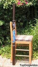 "47""120cm Bamboo DIDGERIDOO Weasel Dot-Painted Handwork +Bag +Beeswax Mouthpiece"