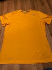 Nike Dri Fit Men's Yellow Athletic Tops Size Large
