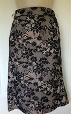 Gorgeous!  M&Co Black Ivory Luxe Lace Skirt BNWT ~ Uk Size 14