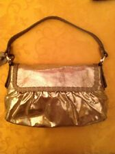 FENDI Selleria Gold Metallic Baguette In Leather