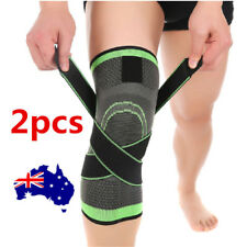 2x 3d Weaving Knee Brace Breathable Sleeve Support for Running Jogging Sports on