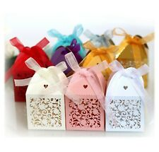 100X Hollow Leaves Flower Candy Box Wedding Favor Bridal Shower