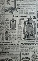 Vintage 1928 advertisement DIETZ LANTERN scales tools illustrated catalog ad pg
