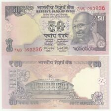 India 50 Rupees Gandhi Issue Banknote in UNC