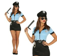 Ladies Adult Police Fancy Dress Costume Sexy Cop Halloween Cops Robbers Officer