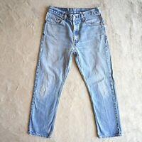 Vintage 80's/90's LEVIS 505 Jeans Straight Leg Zip Fly Denim Regular fit W30 L29