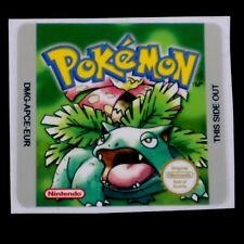 Set Of (1) Gameboy Pokemon Green Version EUR Replacement Label Sticker