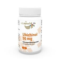Vita World Ubichinol 50mg 60 Kapseln Ubiquinol Antioxidant Q10 Made in Germany