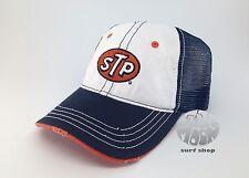 NEW STP Blue and White Mesh back Trucker Hat Cap
