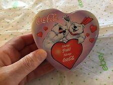 Coca Cola heart shaped tin