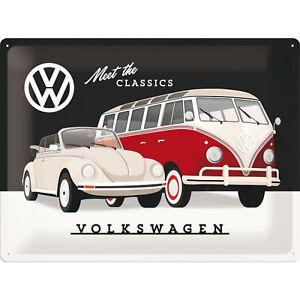 Nostalgique Type VW Bulli T1 Et Coccinelle Cabriolet Meet The Classics 30 x 40