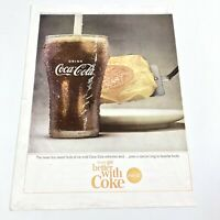 Vintage 1964 Coca Cola Bell Telephone System Magazine Print Ad