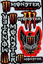 1 Sheet scooter motocross Stickers atv mx DIRT Energy Rockstar BMX Bike MR army